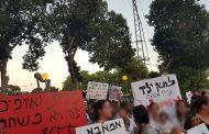 הפגנה נגד התעללות ואלימות בילדים בגנים בקריית גת 2019