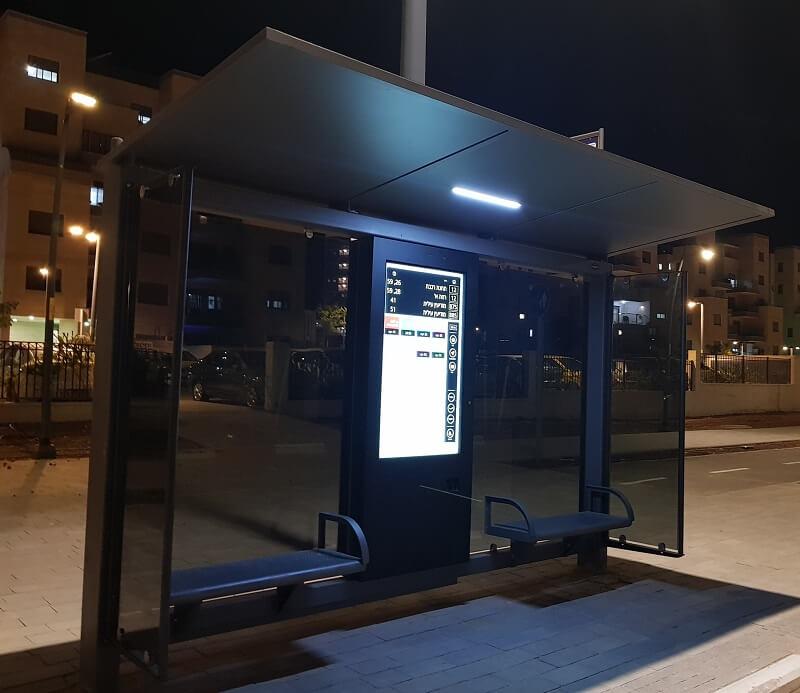 כולל מסך מגע: תחנות אוטובוס חכמות הוצבו בכרמי גת