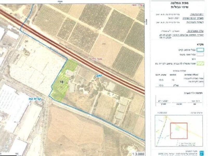 שרת הפנים איילת שקד חתמה על המלצת הועדה הגאוגרפית להרחבת שטח בית העלמין בקרית גת